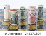 Stock photo five currencies that influence global financial investments business growth market recessions 243271804