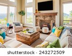 beautiful furnished living room ... | Shutterstock . vector #243272509