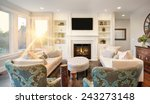 furnished living room in luxury ... | Shutterstock . vector #243273148