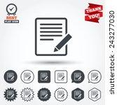 edit document sign icon. edit...   Shutterstock .eps vector #243277030