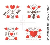 love day labels with crossed... | Shutterstock .eps vector #243277834
