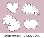 set of cute speech bubbles | Shutterstock .eps vector #243279148