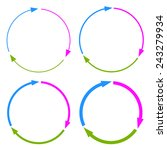 three part arrow circles | Shutterstock .eps vector #243279934