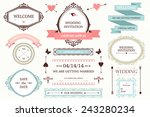 vector collection of vintage... | Shutterstock .eps vector #243280234