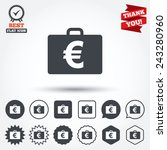 case with euro eur sign icon.... | Shutterstock .eps vector #243280960