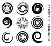 Set Of Spiral Elements