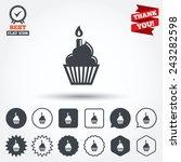 birthday cake sign icon.... | Shutterstock .eps vector #243282598