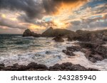 Stormy Winters Sunset At...