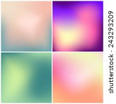 set of 4 blurred vector... | Shutterstock .eps vector #243293209
