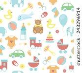 vector seamless baby  pattern | Shutterstock .eps vector #243296914