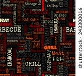 bbq word seamless pattern on... | Shutterstock .eps vector #243300016