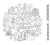 creative business idea concept... | Shutterstock .eps vector #243303646