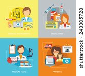 doctor design concepts set with ... | Shutterstock .eps vector #243305728