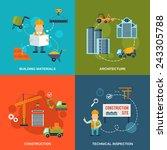 construction flat icons set...   Shutterstock .eps vector #243305788