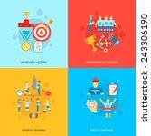 coaching design concept set... | Shutterstock .eps vector #243306190