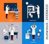 science design concept set with ... | Shutterstock .eps vector #243306310