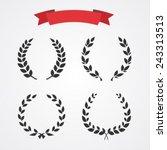 laurel wreath set | Shutterstock .eps vector #243313513
