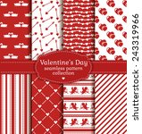 Happy Valentine's Day  Set Of...