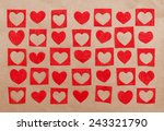 hearts of the red paper. card... | Shutterstock . vector #243321790