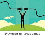 getting plugged in a... | Shutterstock .eps vector #243325813