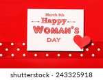 happy womans day message with... | Shutterstock . vector #243325918