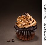 A Chocolate Cup Cake With ...