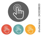 hand click icon | Shutterstock .eps vector #243338833