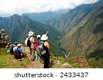 ancient inca ruins along the... | Shutterstock . vector #2433437