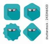 party mask flat icon with long... | Shutterstock .eps vector #243346420