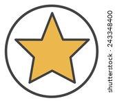 star shape success superstar...