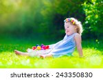 Cute Little Toddler Girl With...