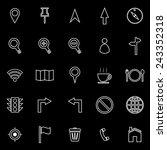 map line icons on black... | Shutterstock .eps vector #243352318
