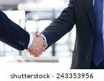 closeup of a business hand... | Shutterstock . vector #243353956