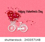 valentine day greeting card... | Shutterstock .eps vector #243357148