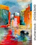 beautiful watercolor painting...   Shutterstock . vector #243363640