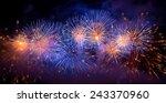 Firework In The Dark Sky