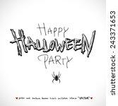 happy halloween   hand drawn... | Shutterstock .eps vector #243371653