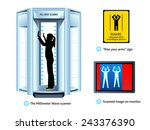 airport full body scanner  sign ... | Shutterstock .eps vector #243376390