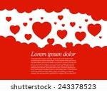 valentines hearts. vector... | Shutterstock .eps vector #243378523