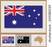 national flag and country... | Shutterstock .eps vector #243380239