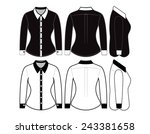 blank shirt with long sleeves... | Shutterstock .eps vector #243381658