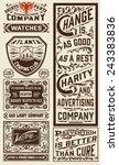 old advertisement designs  ... | Shutterstock .eps vector #243383836