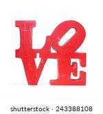 Vintage Wooden Letters Love...