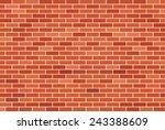 brown brick wall background  ... | Shutterstock .eps vector #243388609