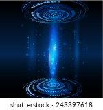technology circuit futuristic... | Shutterstock .eps vector #243397618