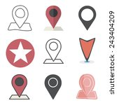 check in location direction... | Shutterstock .eps vector #243404209