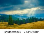 stormy weather in a carpathian... | Shutterstock . vector #243404884