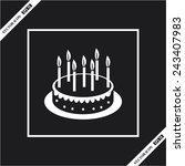 illustration of cake | Shutterstock .eps vector #243407983
