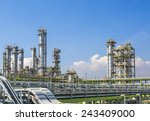 petroleum plant with blue sky | Shutterstock . vector #243409000