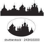 rostov kremlin churches russian ...   Shutterstock .eps vector #243410203